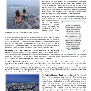 National Ocean Policy Fact sheet