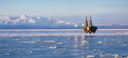 Drilling Rig in the Arctic